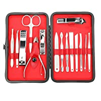Deals on Apsung Set of 15 Manicure Set Pedicure Kit