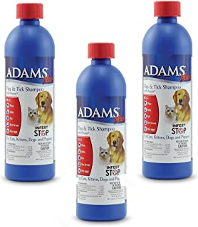 product image for (3 Pack) Adams Plus Flea and Tick Shampoo with Precor for Dogs and Cats - 12-Ounce Bottles