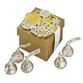 Amazon Hersheys Kisses Wedding Favor Tins With Kisses