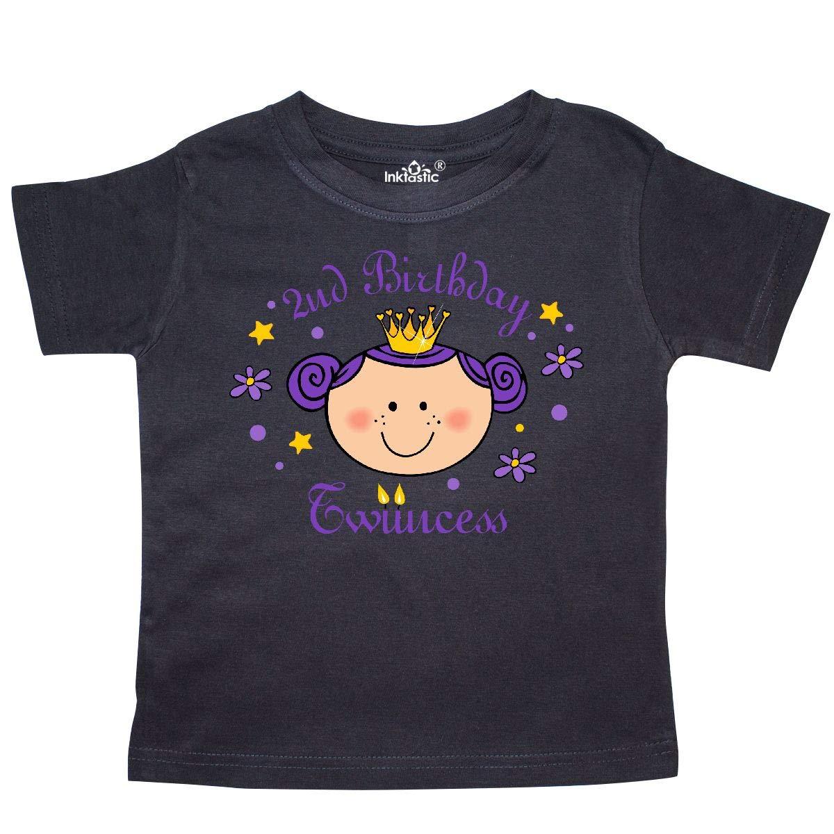 inktastic 2nd Birthday Twincess Toddler T-Shirt