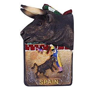 GTNINE Fridge Magnets Spanish Bullfighter Bull Funny Magnet Gifts Office Magnet Refrigerator Magnets for Home Kitchen Fridge Office Whiteboard