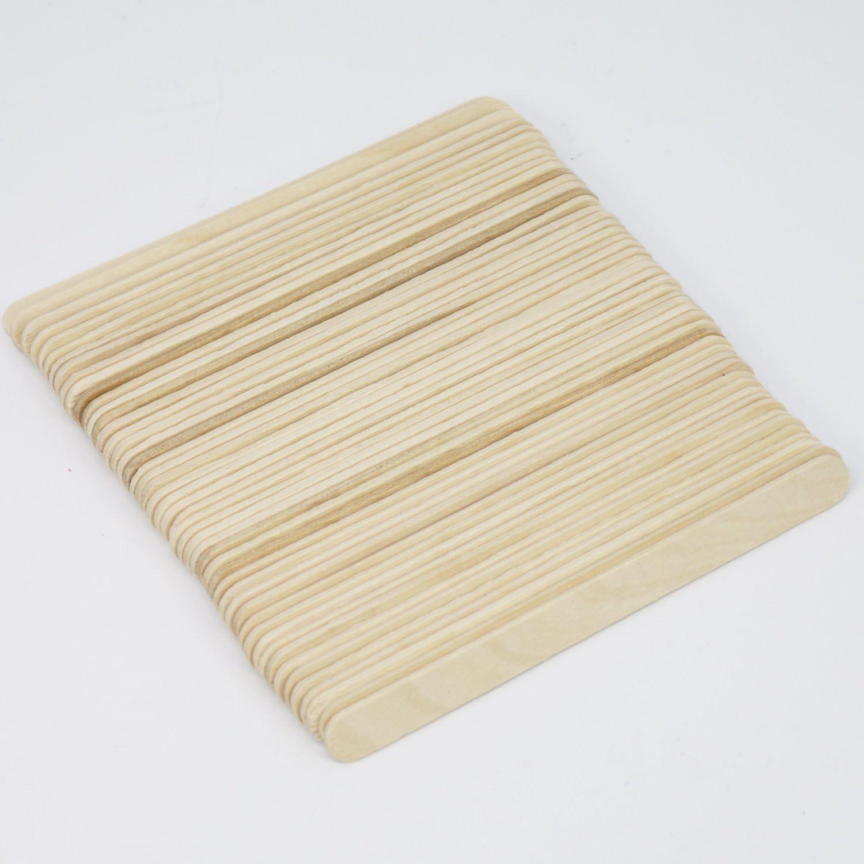 192 St/ück - Bunt com-four/® Holzstiele 11,4 x 1 cm Holzst/äbe zum Basteln und Heimwerken