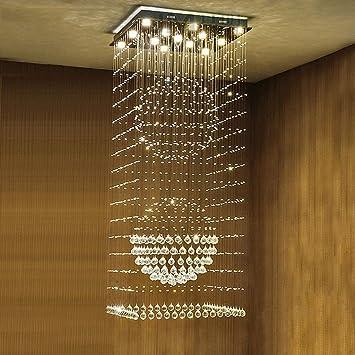 Arañas de Iluminación Interior Escalera de Caracol Araña de ...