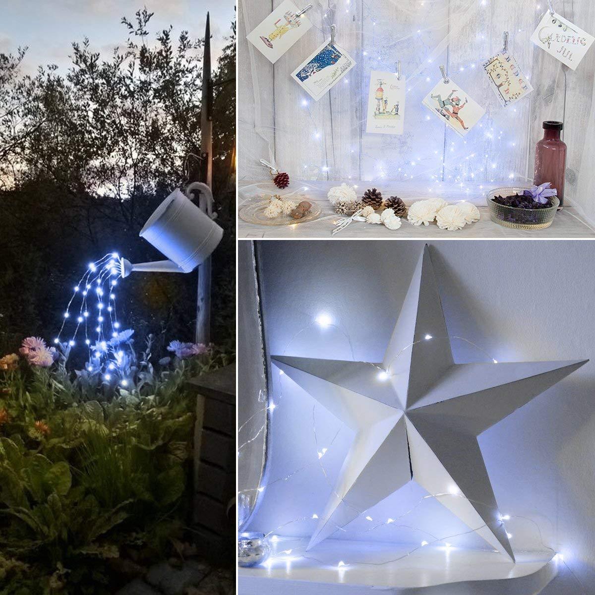 AMIR Solar Luz Cadena 2/Unidades Navidad 33/ft 100/LED Solar Luz Cadena Navidad Solar Bola Iluminaci/ón para Fiesta Exterior Jard/ín Exterior Color Blanco Halloween Fijo Deko etc.
