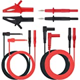 Neoteck 8 Pieces Multimeter Test Lead, Test Lead with Alligator Clips and Test Probe, Multimeter Test Lead Kit…