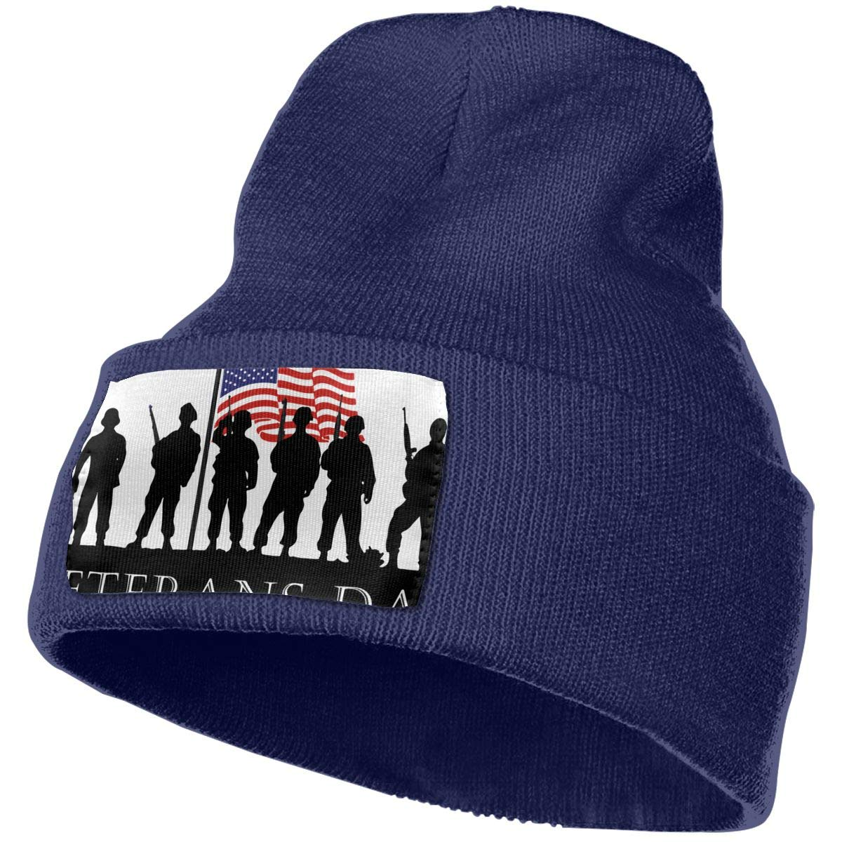 Veterans Day American Flag Soldier Military Beanie Cap Hat Men /& Women Knit Hats Stretchy /& Soft Beanie