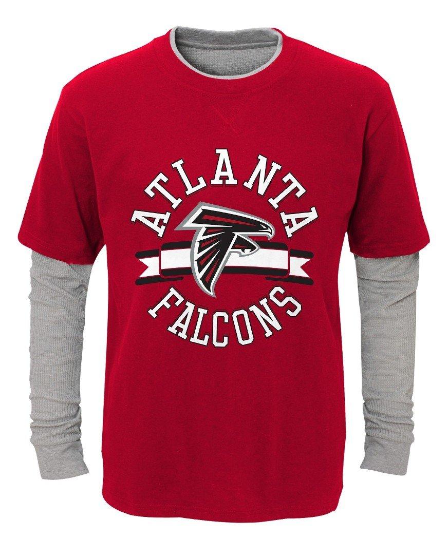 柔らかい Atlanta L/S Falcons Atlanta Youth NFL「Definitive