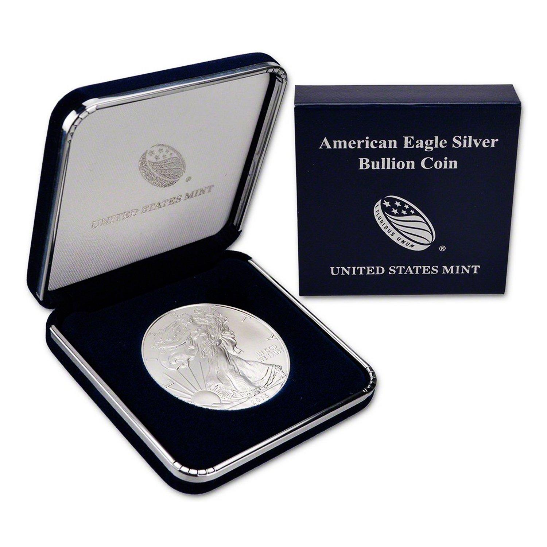 1992 $1 American Silver Eagles BU In US Mint Gift Box