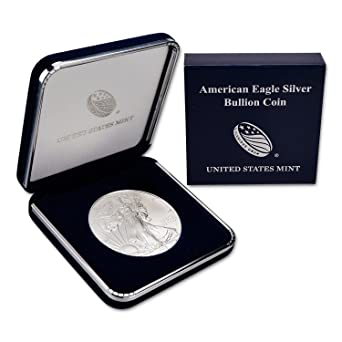 2015 Silver Eagle with Genuine US Mint Gift Box $1 Brilliant Uncirculated