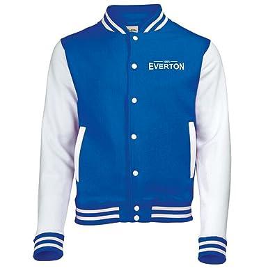 100/% Everton Fan Varsity Jacket Mens