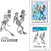 Spellbinders Singing Mermaids by Jane Davenport Clear Stamp Set, Transparent
