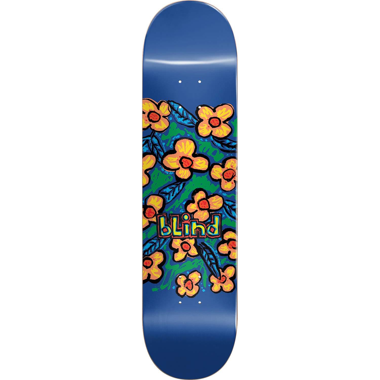 Amazon Com Blind Skateboards Flowers Blue Skateboard Deck