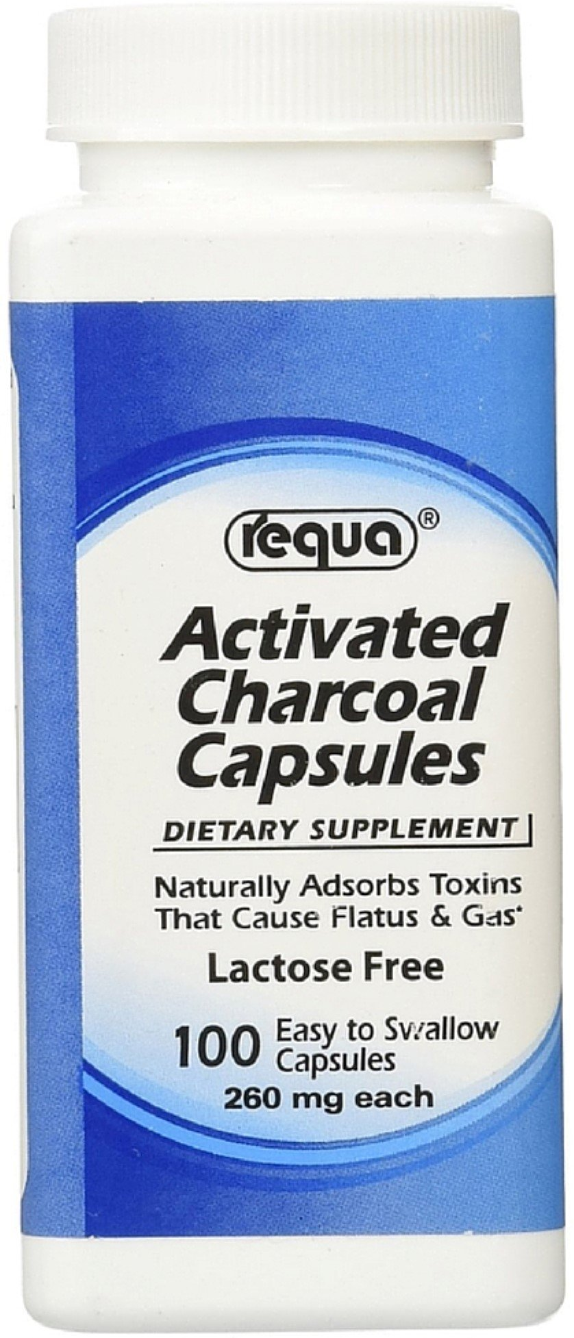 Requa Activated Charcoal Capsules 100 ea (Pack of 7)