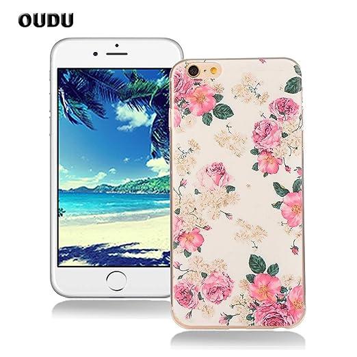 24 opinioni per OuDu Cover iPhone 6/6S (4.7 pollici) Custodia TPU Silicone Cassa Gomma Soft