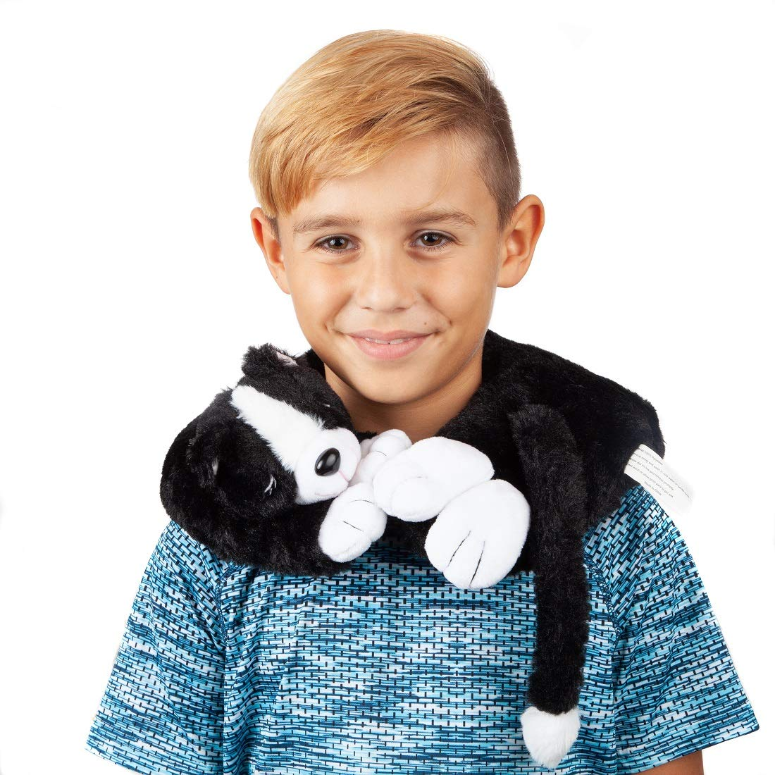 Lily's Home Animal Neck Warmer, Microwavable Heatable Therapeutic and Cozy Neck Wrap Plush Soft Toy (Cat)