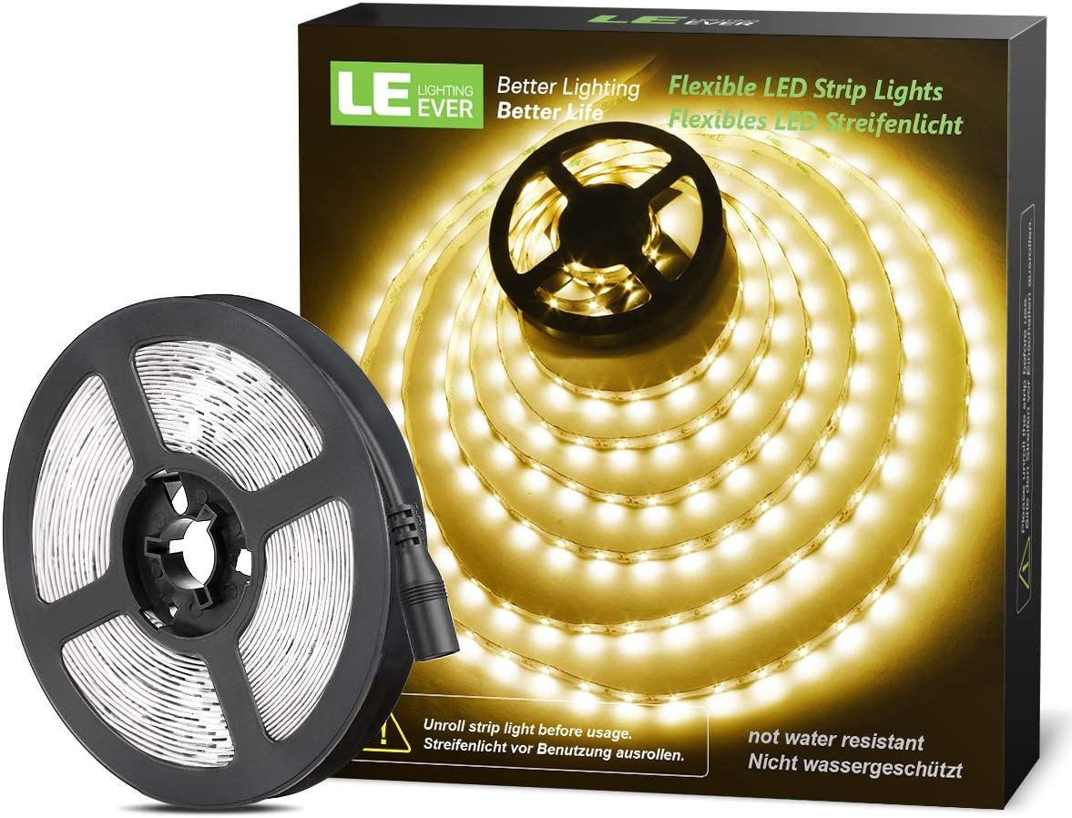 220V Super Helle LED Strip Streifen Dimmbar AN//AUS Flexibel Lichtleiste Licht DE
