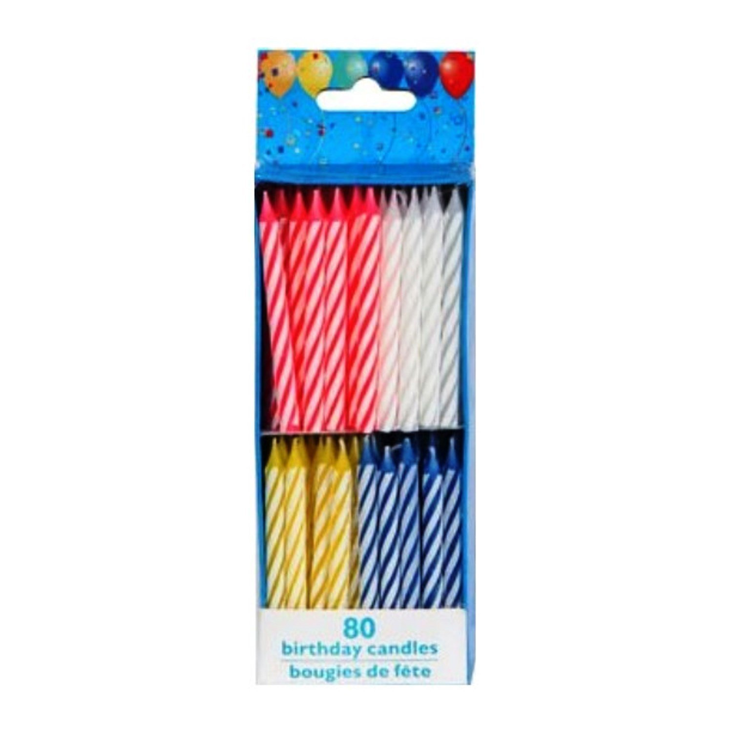 Birthday Candles 80 Count Spiral Brights By Dollar Tree Party SG B006IKOXHW US