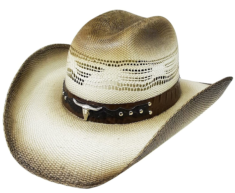 Traditional Vaquero Headamp; Sombrero Bull Rodeo Straw Studs Modestone CxsQthrBd