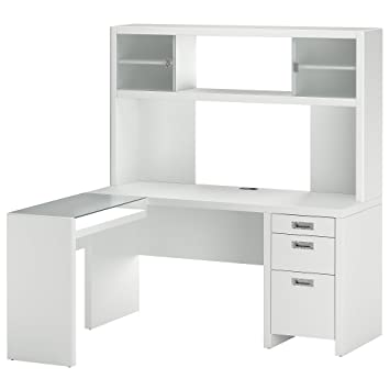 kathy ireland office by bush furniture l desk and hutch plumeria white bush desk hutch office