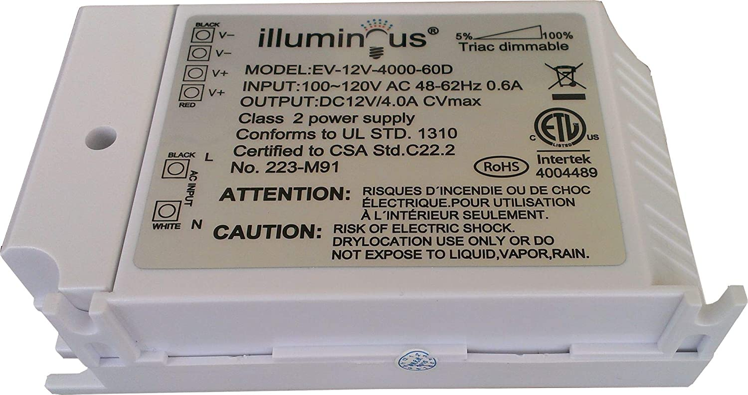 approved UL 12V 48W Dimmable CV DC LED Driver ETL