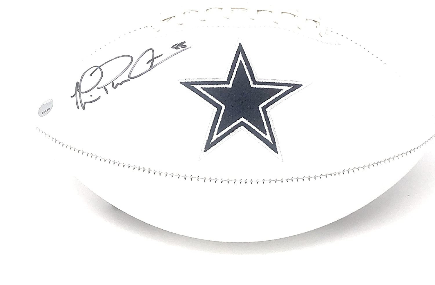 Michael Irvin Dallas Cowboys Signed Autograph Embroidered Logo Football Irvin GTSM Player Hologram