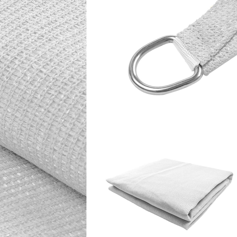KHOMO GEAR Rectangular Sun Shade Sail 12 x 16 Ft UV Block Fabric White