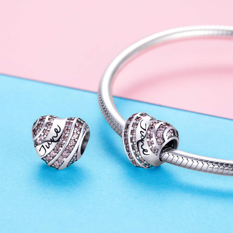 Atlantis Beach Sterling Silver European Charm Bracelet Big Hole Charm Glass Bead
