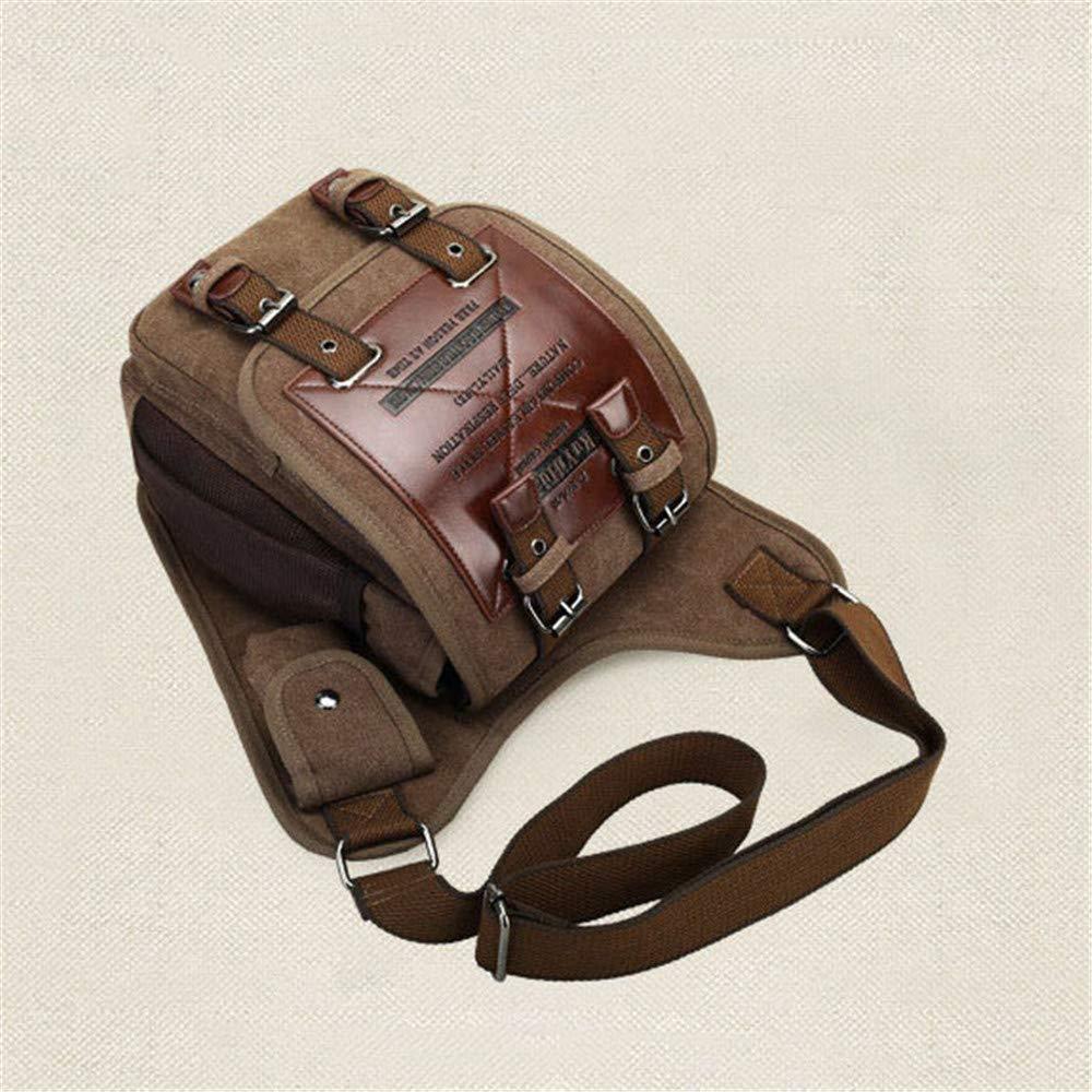 FeliciaJuan Vintage Canvas Mens Bag Shoulder Messenger Bag Multi-Function Messenger Bag Color : Army Green