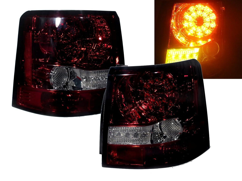 CrazyTheGod レンジローバースポーツ レンジローバースポーツのLS L320 前期 2006-2009 SUV 初代 LEDテールライト 赤とスモーク色 対して ランドローバー B00EO041FM