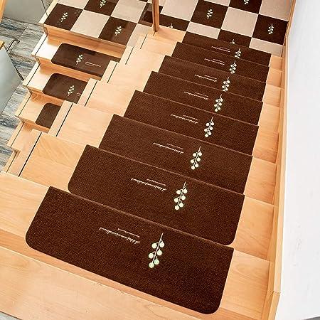 Las huellas de escalón interior resbalón del resbalón resistente alfombra de la escalera peldaño banda de rodadura Mats lavable autoadhesivo escalera Mats for Niños Mayores Perros (21,6 * 8,7 pulgadas: Amazon.es: Hogar