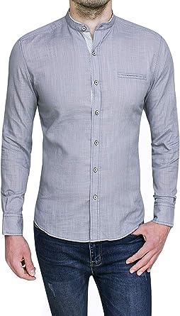Evoga - Camisa para hombre de algodón Slim Fit Coreana Casual Elegante Lino: Amazon.es: Ropa y accesorios