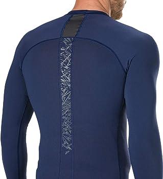 Speedo Boom Long Sleeve Rash Top Am Camiseta Neopreno, Hombre, Navy/Oxid Grey, XS: Amazon.es: Ropa y accesorios
