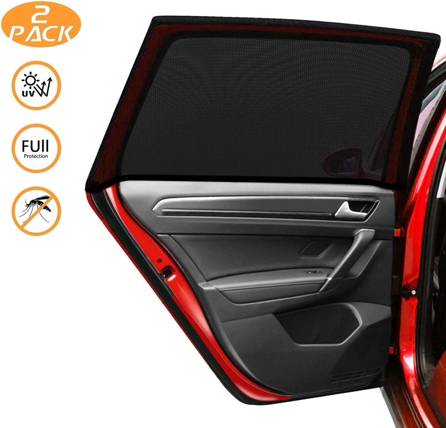 Kuyang Auto Sonnenschutz 2 Stück Doppelseitiges Uv Schutz Autofenster Sonnenschutz Reduziert Wärme Und Uv Strahlung Einfache Installation Auto