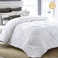 Quilt, Giselle Bedding 400GSM Bamboo Hollow Fibre Blend Quilt Microfiber Cover Hygienic Soft Lofty Light Double-Stitched Soft Breathable Duvet Doona Blanket - White