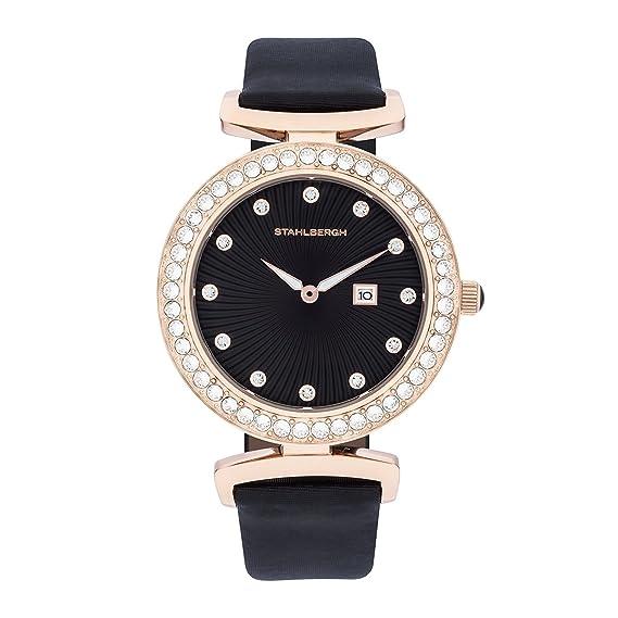 Stahlbergh Levanger reloj mujer acero inoxidable con SWAROVSKI ® ELEMENTSLA72 IPR/B 10060018: Amazon.es: Relojes