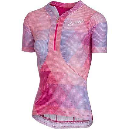 f7b61b64a Amazon.com   Castelli 2018 Women s Alba Short Sleeve Cycling Jersey ...