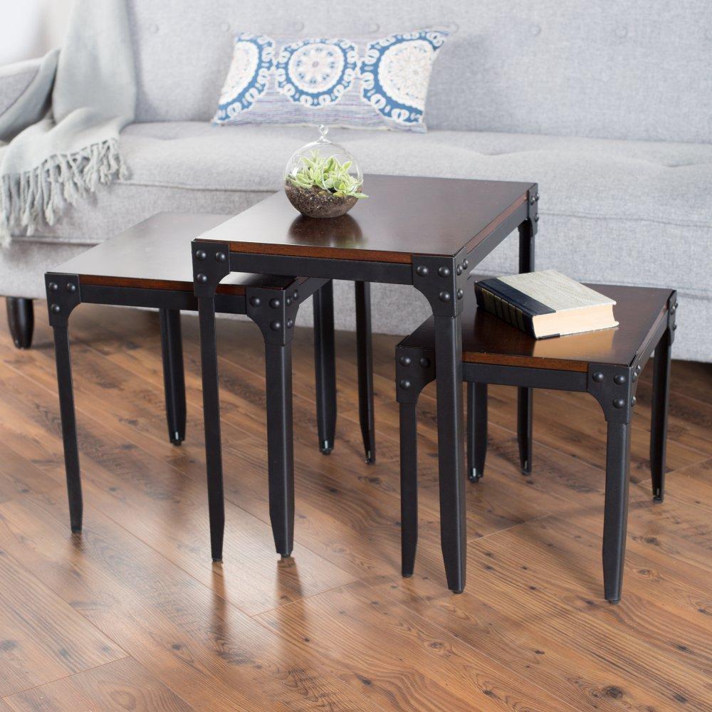 Belham Living Trenton Industrial Nesting Table Set by Belham