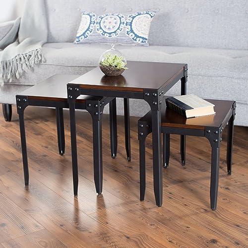 Belham Living Trenton Industrial Nesting Table Set