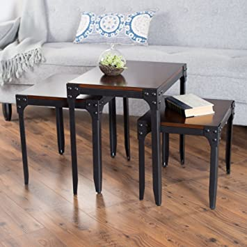 Belham Living Trenton Industrial Nesting Table Set