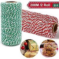 Cordel Verde Rojo y Blanco 200M, Cordel Hilo