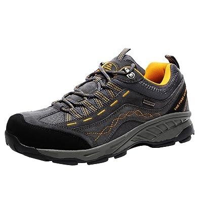 TFO Damen Wasserabweisende Trekkingschuhe & Wanderschuhe Rutschfeste Bergschuhe & Outdoor Schuhe mit Atmungsaktiver Einlegesohle, Blau/Violett, 41 EU