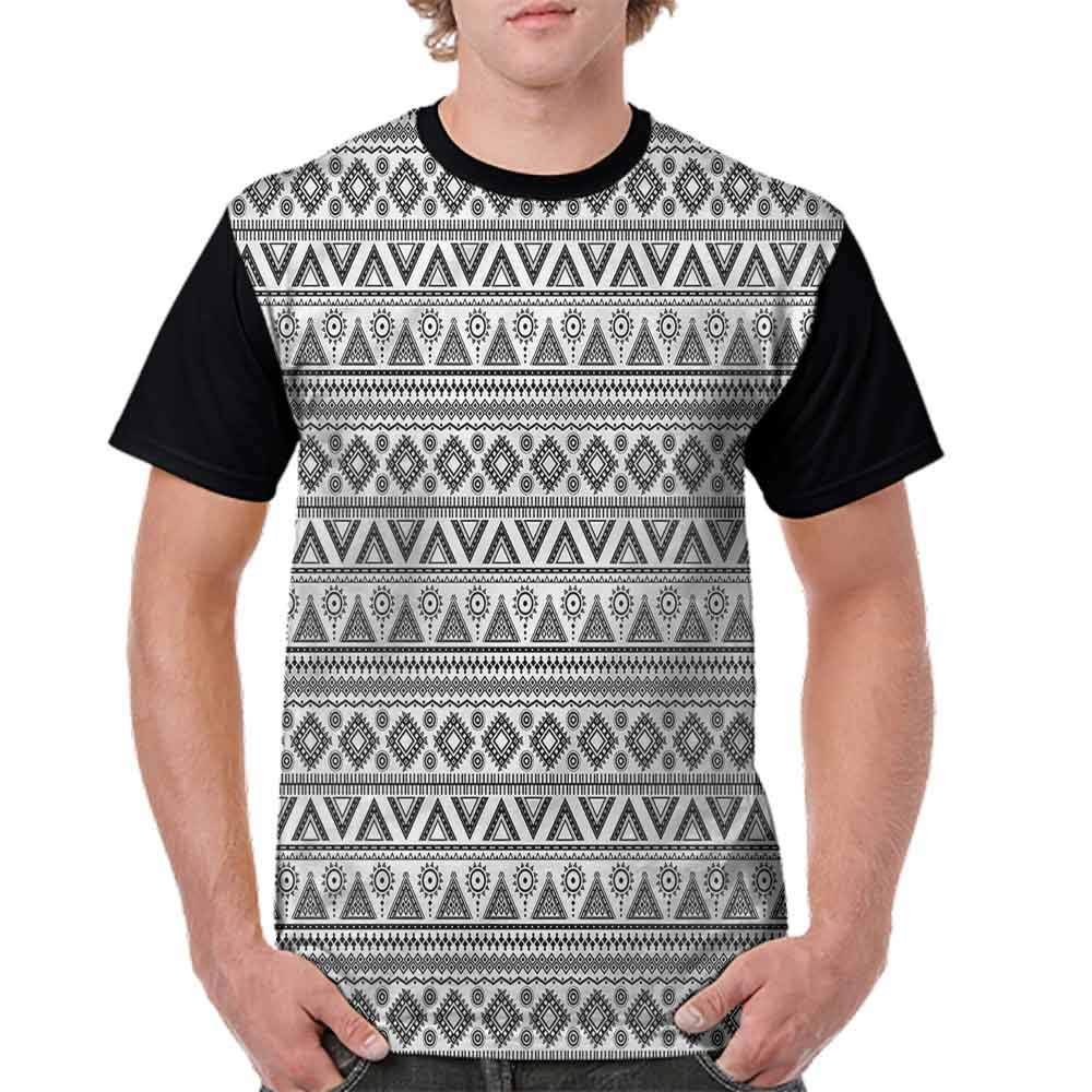 Loose T Shirt,Sun Pyramid Monochrome Fashion Personality Customization