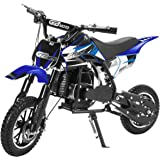 XtremepowerUS 49CC 2-Stroke Gas Power Mini Pocket Dirt Bike Dirt Off Road Motorcycle Ride-on Blue
