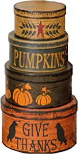 Your Heart's Delight Primitive Autumn Nesting Boxes, 5 by 9-Inch