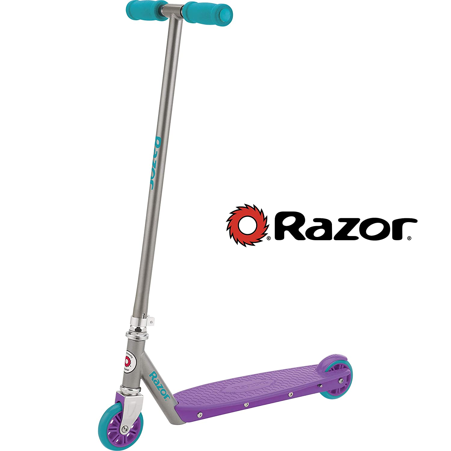 Amazon.com: Razor Berry Kick – Patinete, color morado/azul ...