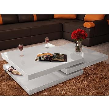 Table De Salon Carree.Festnight Table Basse De Salon Carree Pivotante Avec 3 Plateaux