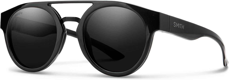 Smith Range Round Sunglasses, Black ChromaPop Black, One Size