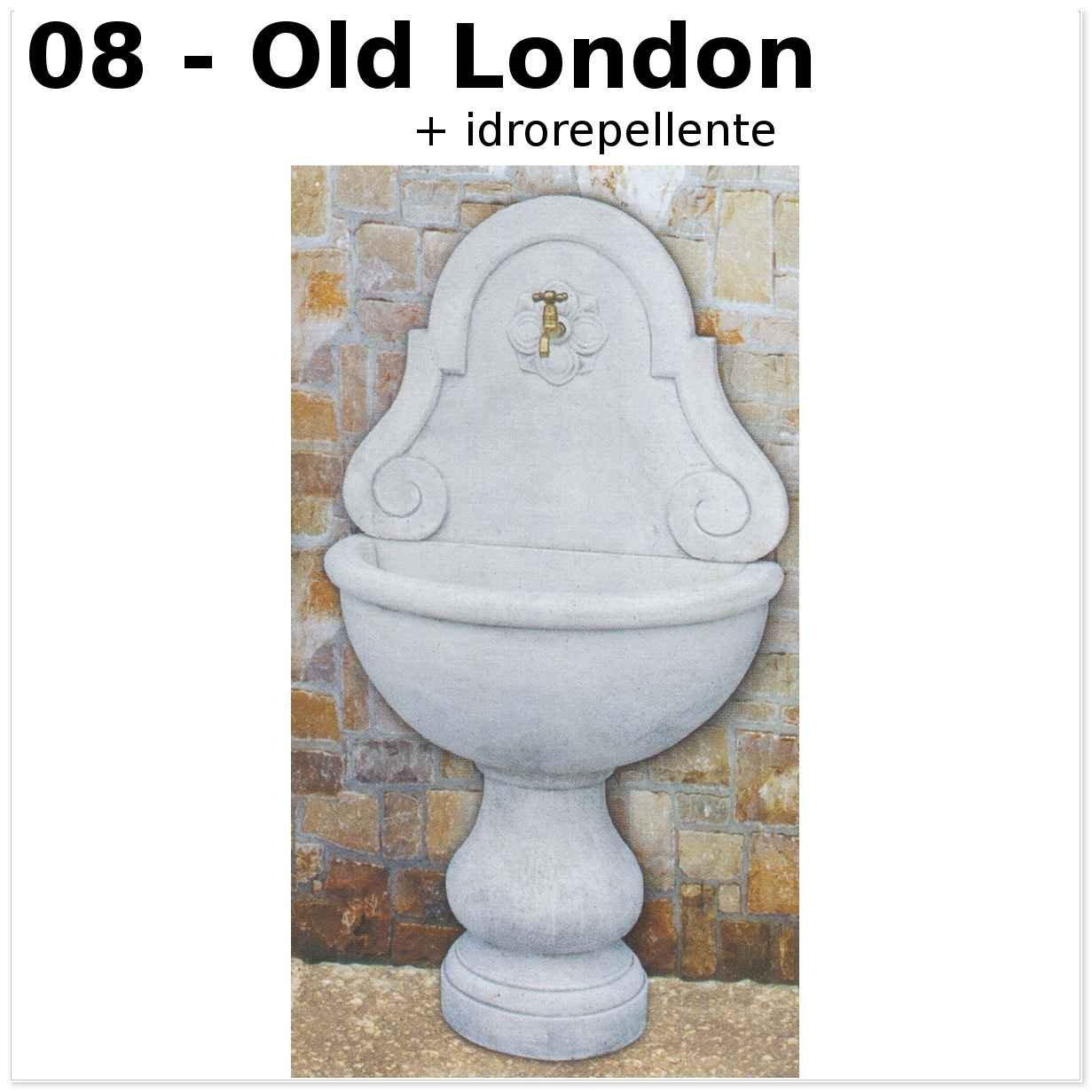 FONTANA A MURO LIONE GRANDE CM80X46X146H OLD LONDON