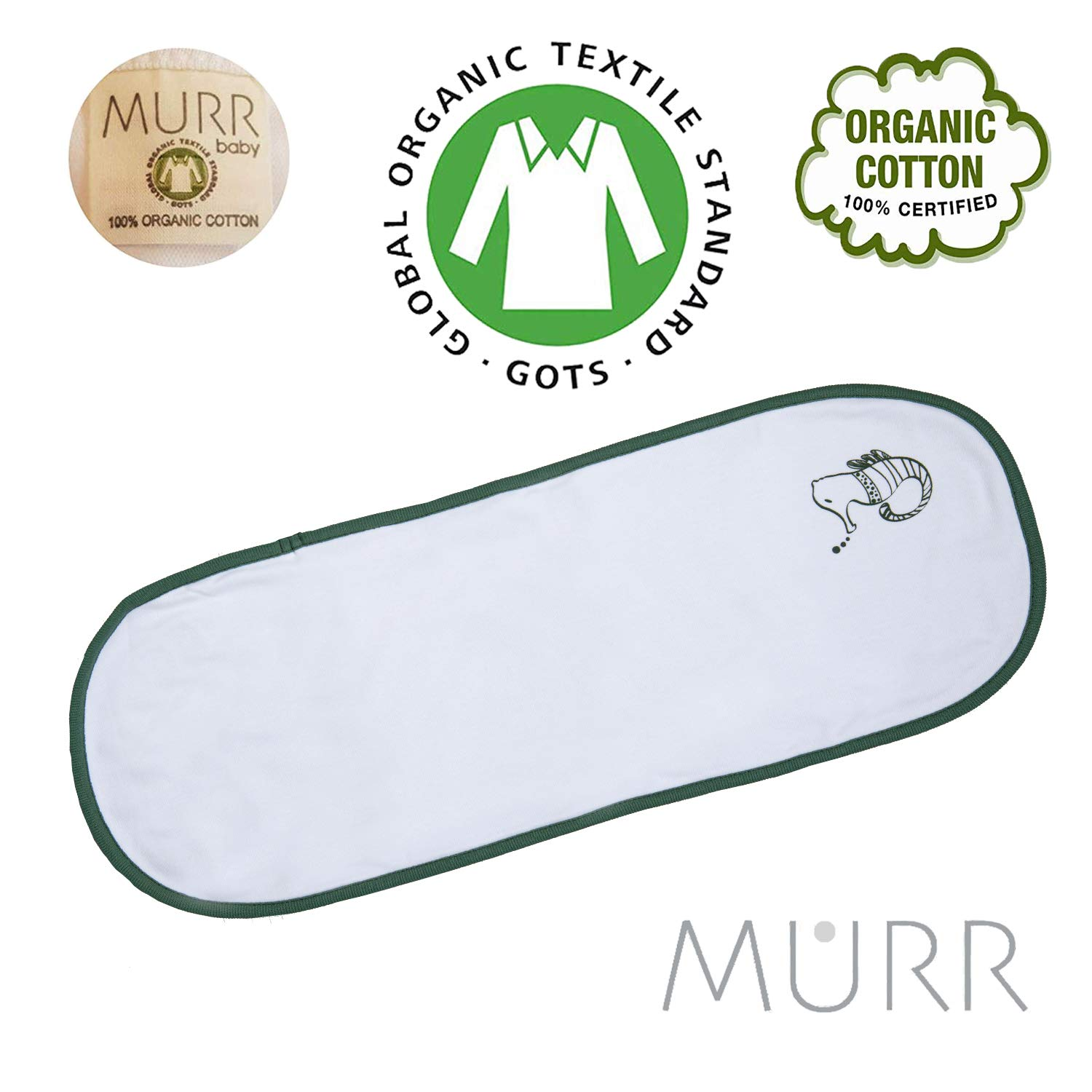 MURR Baby Burp Cloths for Boys Girls Organic Cotton Soft and Absorbent Cloth Diapers Burping Rags for Newborns Baby Shower/Registry Set by Murr Design (5 Pack)