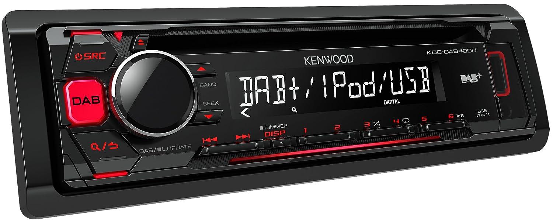 Kenwood KDCDAB400U Digitalautoradio mit CD/USB und Apple iPod-Steuerung schwarz JVCKENWOOD DEUTSCHLAND GMBH KDC-DAB400U